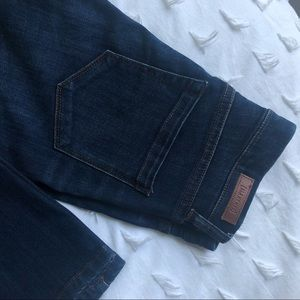 Blank NYC | high rise flare blue jeans